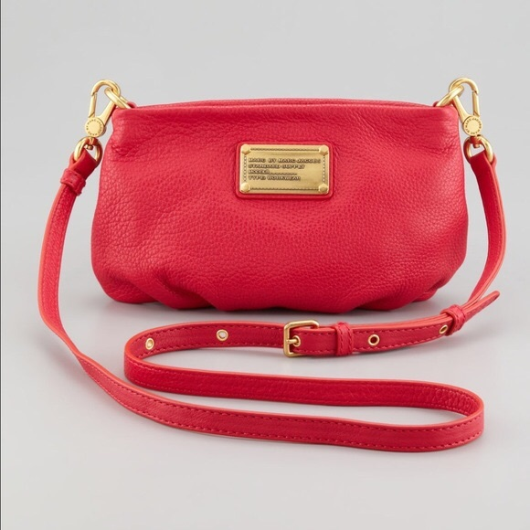 2b993e0498d Marc Jacobs Percy Red Leather Crossbody Bag